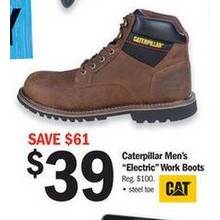 "Caterpillar Men's ""Electric"" Work Boots"