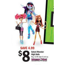 Select Monster High Dolls
