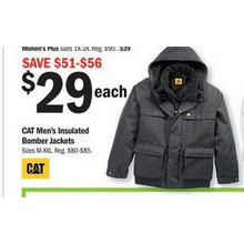 CAT Men's Insulated Bomber Jackets