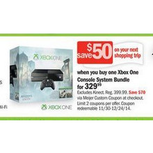 Xbox One Console System Bundle + Free $50 Gift Card