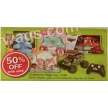 50% off Children's Toys