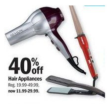 Hair Appliances - 40% off