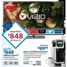 "VIZIO 60"" 1080p 240Hz LED Smart HDTV w/ Wi-Fi (M602i-B3)"