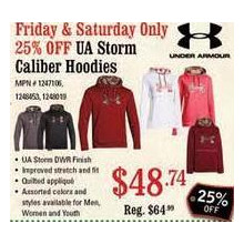 Under Armor Storm Caliber Hoodies  - 25% OFF