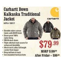 Carhartt Down Kalkaska Traditional Jacket
