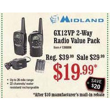 Midland 2-Way Radio Value Pack (GX12VP)