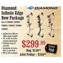 Diamond Infinite Edge Compound Bow Package (Right-Hand) (Pink Blaze)