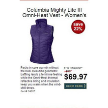 Columbia Mighty Lite III Omni-Heat Vest - Women's
