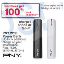 PNY PowerPack T2200 (White) + 100% Back in SYWR Points