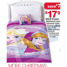 Frozen Licensed Juvenile Blanket w/ Pillow