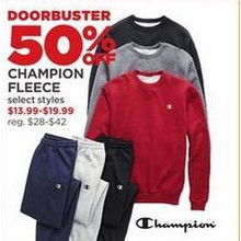 Champion Fleece - 50% off