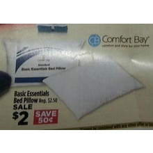 Comfort Bay Basic Essentials Bed Pillow