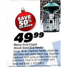 Heavy-Duty Caged Mixed-Seed Bird Feeder