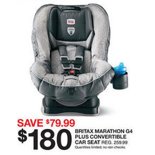 Britax Marathon G4 Plus Convertible Car Seat