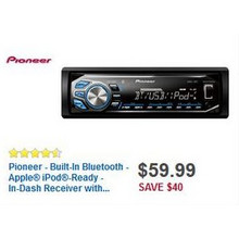 Pioneer Bluetooth iPod Ready In-Dash Receiver
