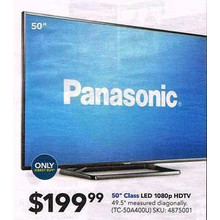 "Panasonic 50"" 1080p LED HDTV (In-Store Only)"