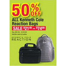 All Kenneth Cole Reaction Bags 50% OFF