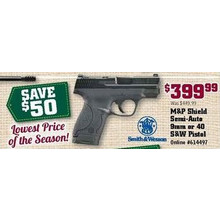 M&P Shield Semi-Auto 9mm or 40 S&W Pistol