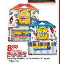 Crayola® Color Lab SuperTip Markers or Twistables® Crayons