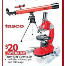 Tasco Refractor Telescope and Microscope Combo