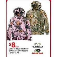 Girls' or Boys' Realtree® or Mossy Oak® Hoodie