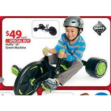 "16"" Huffy Green Machine Jr. Thrill Ride Boys' Ride-On, Assorted Colors"
