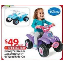 Disney® Frozen or Doc McStuffins™ 6V Quad Ride-On