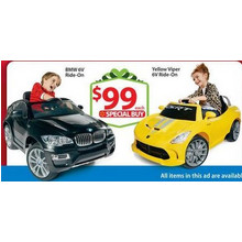 Kid Trax SRT Dodge Viper GTS 6-Volt Battery Powered Ride-On, Yellow