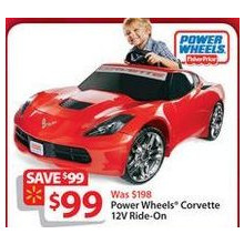 Fisher-Price Power Wheels Corvette 12-Volt Battery-Powered Ride-On