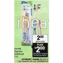 G-U-M Supreme Toothbrush 2 Count (+$2 ExtraBucks Reward)