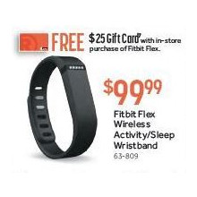 Fitbit Flex Wireless Activity & Sleep Wristband w/ $25 Gift Card