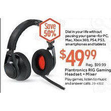 Plantronics RIG Universal Gaming Headset + Mixer