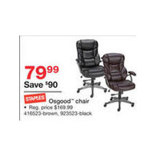 Staples Osgood Chair, Brown