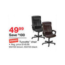 Staples Turcotte Chair, Brown