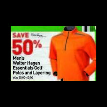 Walter Hagen Mens Essentials Golf Polo 50% OFF