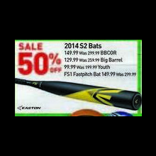 Easton S2 Big Barrel Bat 2014