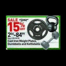 Fitness Gear Cast Iron Weight Plates 15% OFF
