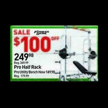 Fitness Gear Pro Half Rack $100.00 Off