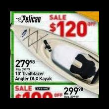 Pelican 10-ft. Trailblazer Angler DLX Kayak $120.00 Off