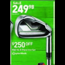 TaylorMade RBZ HL 8-pc. Iron Set