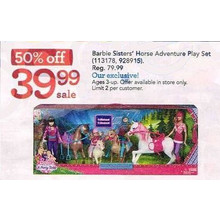 Barbie Sisters' Horse Adventure Play Set