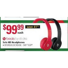Beats Solo HD Drenched Headphones, Red or Black