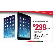 Apple iPad Air 16GB WiFi Tablet, Silver or Space Gray