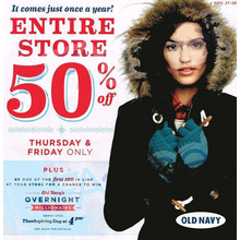 Entire Store 50% off Thursday & Friday