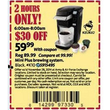 Keurig Mini Plus Brewing System 2 hours Only 6AM-8AM