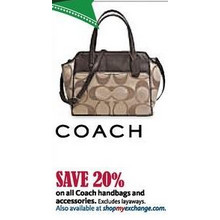 Entire Stock of Coach Handbags and Accessories - 20% off