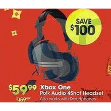 Xbox One Polk Audio 4Shot Gaming Headset Black
