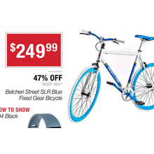Belcheri Street SLR Blue Fixed Gear Bicycle