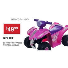 Lil' Rider Pink Princess Mini Ride-on Quad
