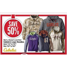 Cabela's Logo Hoodies for Kids 50% off